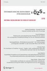 Österreichische Zeitschrift für Soziologie 2/2015