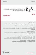 Österreichische Zeitschrift für Soziologie 4/2015