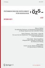 Österreichische Zeitschrift für Soziologie 1/2017