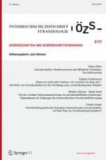 Österreichische Zeitschrift für Soziologie 2/2017