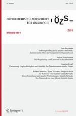 Österreichische Zeitschrift für Soziologie 2/2018