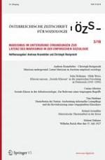 Österreichische Zeitschrift für Soziologie 3/2018