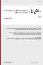Österreichische Zeitschrift für Soziologie 4/2018