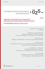 Österreichische Zeitschrift für Soziologie 3/2019