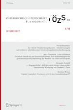Österreichische Zeitschrift für Soziologie 4/2019