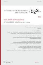Österreichische Zeitschrift für Soziologie 1/2020