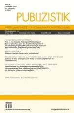 Publizistik 4/2009