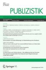 Publizistik 1/2018