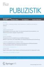 Publizistik 1/2020