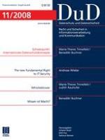 Datenschutz und Datensicherheit - DuD 11/2008