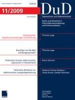 Datenschutz und Datensicherheit - DuD 11/2009