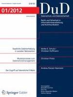 Datenschutz und Datensicherheit - DuD 1/2012