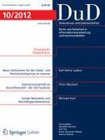 Datenschutz und Datensicherheit - DuD 10/2012