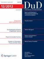 Datenschutz und Datensicherheit - DuD 12/2012