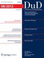 Datenschutz und Datensicherheit - DuD 8/2012