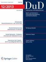 Datenschutz und Datensicherheit - DuD 12/2013