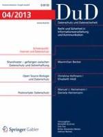 Datenschutz und Datensicherheit - DuD 4/2013
