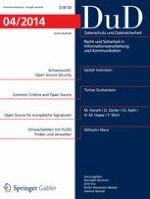 Datenschutz und Datensicherheit - DuD 4/2014