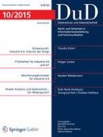 Datenschutz und Datensicherheit - DuD 10/2015