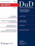 Datenschutz und Datensicherheit - DuD 3/2015