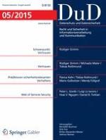 Datenschutz und Datensicherheit - DuD 5/2015