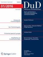 Datenschutz und Datensicherheit - DuD 1/2016