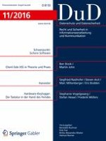 Datenschutz und Datensicherheit - DuD 11/2016