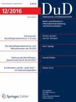Datenschutz und Datensicherheit - DuD 12/2016