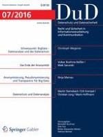 Datenschutz und Datensicherheit - DuD 7/2016