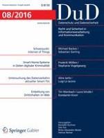 Datenschutz und Datensicherheit - DuD 8/2016