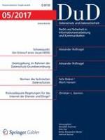 Datenschutz und Datensicherheit - DuD 5/2017