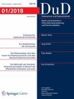 Datenschutz und Datensicherheit - DuD 1/2018