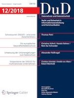 Datenschutz und Datensicherheit - DuD 12/2018