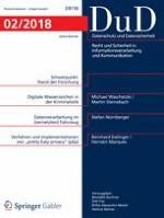Datenschutz und Datensicherheit - DuD 2/2018