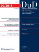 Datenschutz und Datensicherheit - DuD 9/2018