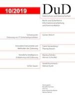Datenschutz und Datensicherheit - DuD 10/2019