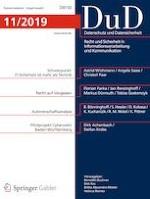 Datenschutz und Datensicherheit - DuD 11/2019