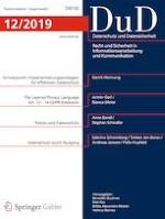 Datenschutz und Datensicherheit - DuD 12/2019