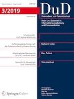 Datenschutz und Datensicherheit - DuD 3/2019