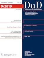 Datenschutz und Datensicherheit - DuD 9/2019
