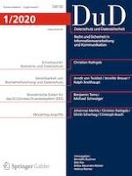 Datenschutz und Datensicherheit - DuD 1/2020