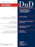 Datenschutz und Datensicherheit - DuD 10/2020