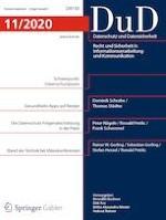 Datenschutz und Datensicherheit - DuD 11/2020