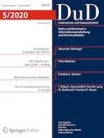 Datenschutz und Datensicherheit - DuD 5/2020
