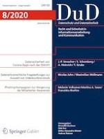 Datenschutz und Datensicherheit - DuD 8/2020