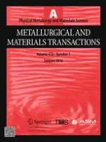 Metallurgical and Materials Transactions A 1/2016