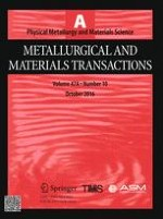 Metallurgical and Materials Transactions A 10/2016