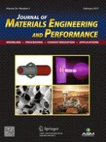 Journal of Materials Engineering and Performance 2/2017