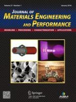 Journal of Materials Engineering and Performance 1/2018