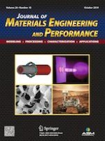 Journal of Materials Engineering and Performance 10/2019